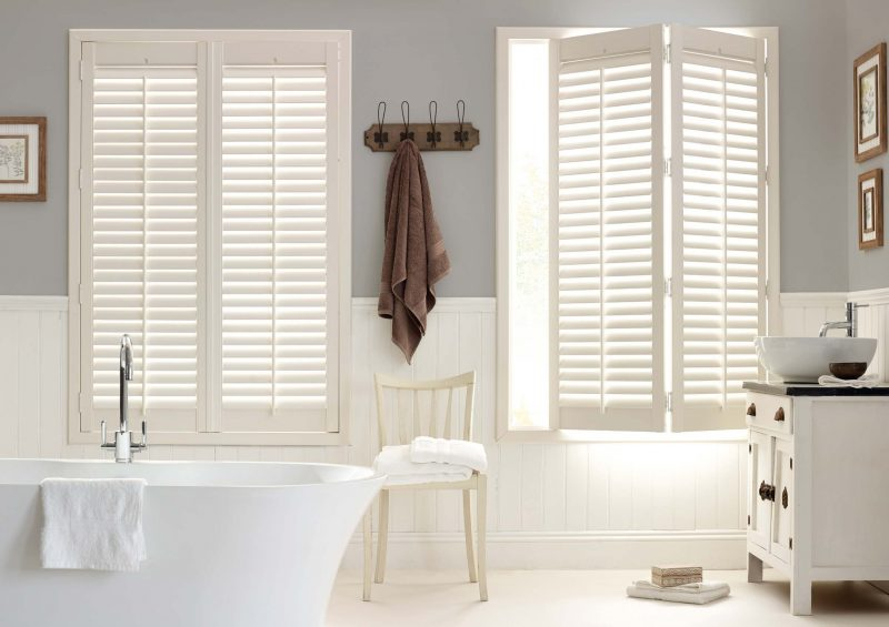 Shutter Blinds in the bathroom