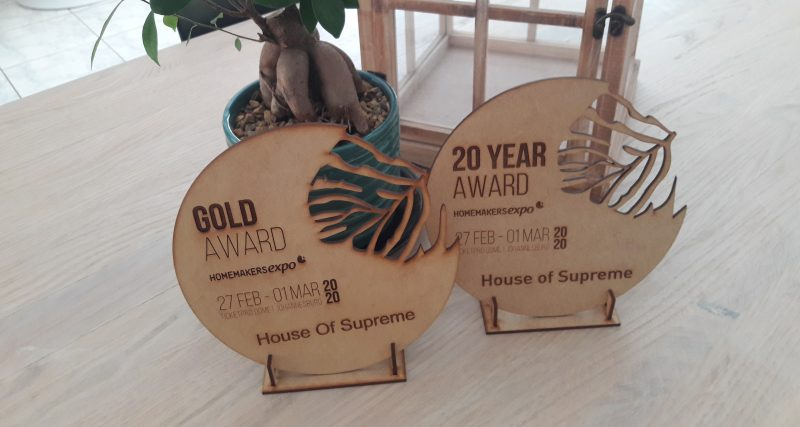 Gold Award Homemakers Expo Johannesburg 2020