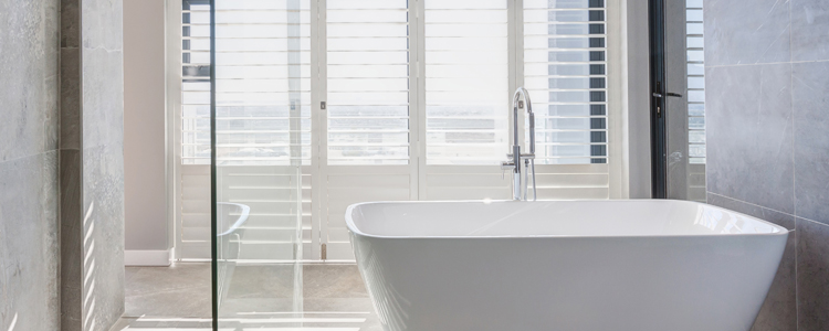 Aluminium Shutters Bathroom