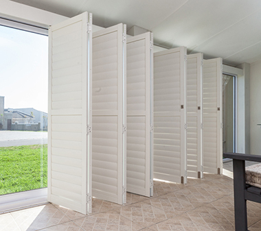Bifold Shutters Semi-Closed